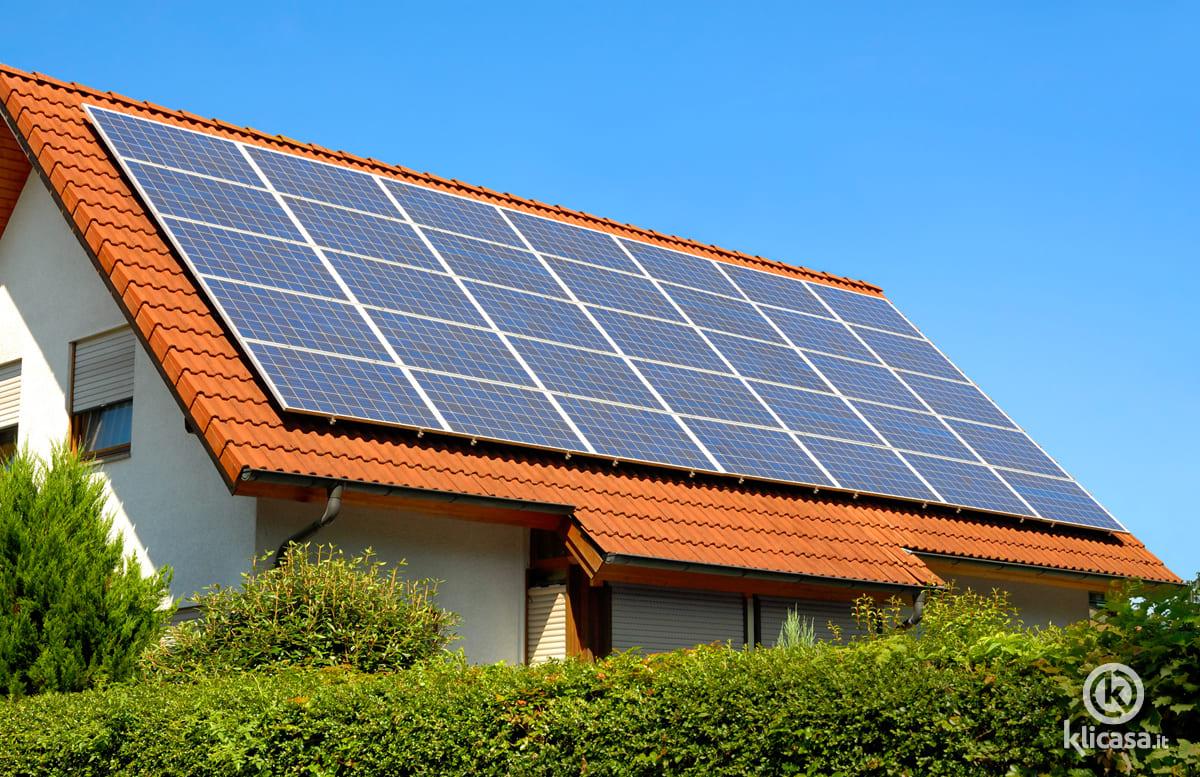 impianto fotovoltaico classico senza accumulo di corrente